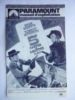 DOSSIER DE PRESSE 5 cartes � abattre - 1968 - Henry Hathaway - Dean Martin -  Robert Mitchum - Roddy McDowall