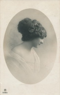 FEMMES - FRAU - LADY - Jolie Carte Fantaisie Portrait Jeune Femme De Profil - Women