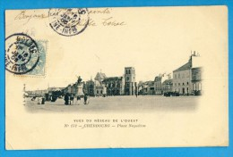 CP, 50, CHERBOURG, Place Napoléon, Dos Simple, Vierge - Cherbourg