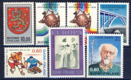 ##Finland 1974. 7 Items. MNH(**) - Finnland