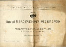 ADRIA – LINEA DEL PERIPLO ITALICO-MALTA-MARSIGLIA-SPAGNA - Schiffe