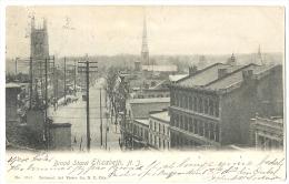 Broad Street Elizabeth N.J. Street Life, Light Corner Bend, UDB 1904 - Elizabeth
