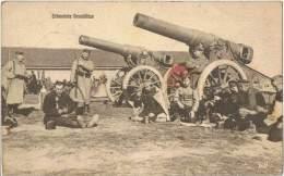 S50/MIL - AK Erbeutete Geschütze Feldpost Festung Modlin - Matériel