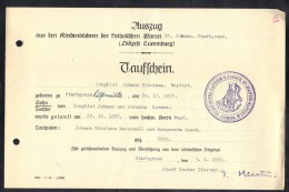 LUXEMBOURG 1943, PAROCH. ST. JOANNIS BAPTISTE. (3VD61) - Documents Historiques