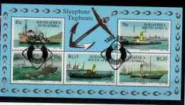 FOGLIETTO/STAMPS SHEET - SUD AFRICA/SOUTH AFRICA/SUID AFRIKA - NAVI A VAPORE - SLEEPBOTE TUGBOATS (1994) - Usati