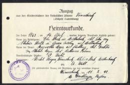 LUXEMBOURG 1942, PAROCHIA AD. ST. MARTINUM. (3VD60) - Documents Historiques