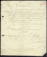 LUXEMBOURG 1898, EXTRACTUS E LIBRO BAPTISMALI PARACHINE. (3VD55) - Documents Historiques