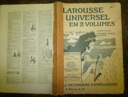 10 Fascicules Du Larousse Illustré Continuant E Et Commençant Sur F...: Europe,Etats-Unis,Eclaira Ge,Escrime,  Etc - Dictionnaires