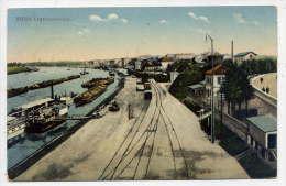 Allemagne--RIESA--1914--Landunsplatz (trains,péniches) éd Ottmar Zieher - Riesa