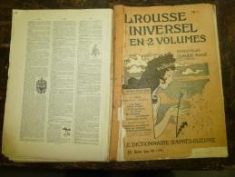 10 Fascicules Du Larousse Illustré Continuant P Et Continuant Sur P..: PÊCHES,PERSE, PLANTES,PORCELAINE..etc.. ......... - Dictionaries