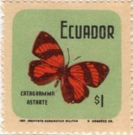 Lote EC69, Ecuador, 1970, Mariposas, Butterflies, 10 Valores, 10v - Ecuador