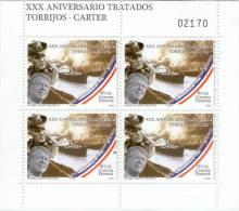 Lote Pa1, Panama, 2008, XXX Aniv Tratados Torrijos-Carter, 4 Sellos, Mini Sheet, Canal Zone, Boat - Panama