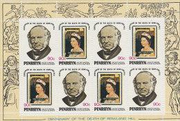 Penrhyn-1979 Rowland Hill 90c Sheetlet MNH - Penrhyn