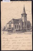 """Plainpalais : Le Temple Vers 1902 Dessiné Par """"J. C."""" (12´383) - GE Genève"""