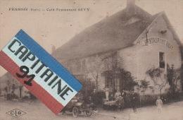 CPA FRANOIS DOUBS CAFE RESTAURANT SEVY - France
