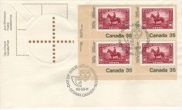 CANADA  1982 FDC SCOTT/UNITRADE 911 PB VALUE US $3.35 - 1981-1990