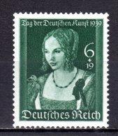 """(3410) GERMANY (THIRD REICH), 1939 (""""Venetian Woman"""" By Albrecht Durer).  Mi # 700. MNH** Stamp - Allemagne"""