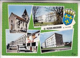 LE PLESSIS BOUCHARD 95 - Jolie Multivues Dont Station Service ANTAR Avec DS 19 Citroen  CPSM GF N° 12 - Val D'Oise - Le Plessis Bouchard