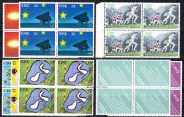 IRLANDA LOTE  YVERT Nº 586+813+404/6+398+396/7 BLOQUES DE 4 .NUEVAS SIN CHARNELA. SES 387 - 1949-... Republic Of Ireland