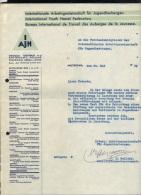 LUXEMBOURG 1939, BUREAU INTERNATIONAL DE TRAVAIL DES AUBERGES DE LA JEUNESSE. (3VD16) - Documents Historiques