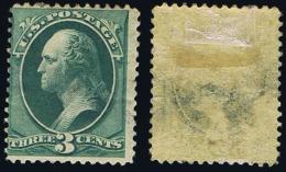 United States Scott # 158, 3¢ Green (1873) George Washington, Used - Oblitérés