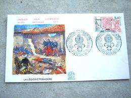 RARE LEGION ETRANGERE CAMERONE 30 AVRIL 1984 enveloppe premier jour �mission AUBAGNE 30/04/1984 Num�rot� 1371 FDC