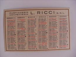 """Calendarietto/calendario """"Pasticceria Confetteria L.RICCI - MILANO"""" 1953 - Calendari"""