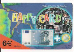 TARJETA PREPAGO HAPPY CARD EURO BILLETE - Sellos & Monedas