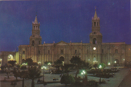 Peru Cathedral's Night View Arequipa
