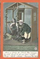 H688, Enfants, Poules, Sabot, Circulée 1907 - Phantasie