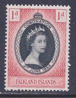 Falkland Islands, Scott # 121 Mint Hinged Coronation, 1953 - Falkland Islands