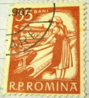 Romania 1960 Textile Worker 35b - Used - Oblitérés