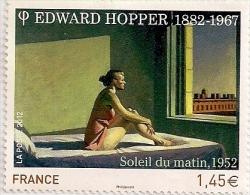 Timbre Poste 2012 - Edward Hopper 1882-1967 - Soleil Du Matin. 1952 (Valeur Faciale 1,45 €) - 2008-13 Marianne Of Beaujard