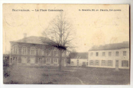 D11055 - BEAUVECHAIN    La Place Communale   *oblitération Relais* - Beauvechain