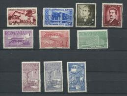 Romania 1939 Mi 609-4, 504-7 MH Complete Sets Cv 23 Euro - 1918-1948 Ferdinand, Charles II & Michael