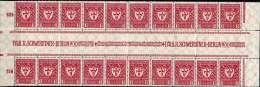 GERMANY REICH 1922 - 1¼ M - Complete Strip Of 10 Gutter Pairs / Kompleter Streifen Von 10 Zwischenstegpaare - Germany