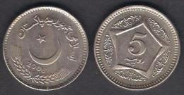PAKISTAN 5 Rupees COPPER COIN 2006 UNC - Pakistan