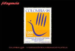 AMERICA. COLOMBIA MINT. 1998 IV EXPOSICIÓN BOLIVARIANA DE FILATELIA - Colombia