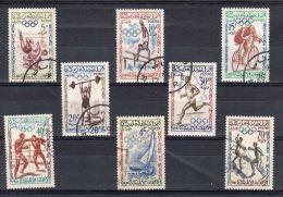 1960, Jeux Olympiques De ROME, Y&T No. 413 - 420, Oblitéré, Lot 39537 - Ete 1960: Rome