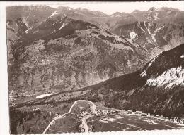 CPSM Noir Et Blanc , Dentelée :MORIOND L´ENSOLEILLEE ( Savoie): Au Printemps:vue Générale Aérienne - Courchevel
