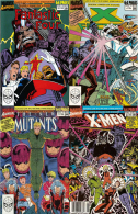 """Marvel Comics 1-4/4 """"Days Of Future Present"""" Fantastic Four/Mutants 1990 Crossover Arc Annuals [Free Shipping] - Collections"""