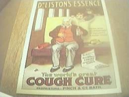 Postcard Unused Reprint Advertising Card - Dr Liston's Essence Cough Cure - Publicité