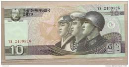 Corea Del Nord - Banconota Non Circolta Da 10 Won - 2002 - Corea Del Nord