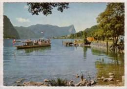 """Schiffsstation """" See """" Am Mondsee , Im Hintergrund Drachenwand - Schober - Mondsee"""