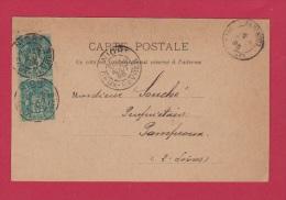 CARTE POSTALE  //  DE NIORT  //   POUR PAMPROUX  //   29 AOUT 1895 - 1876-1898 Sage (Type II)