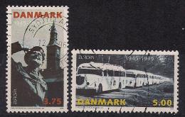 Dänemark / Danmark (1995)  Mi.Nr.  1100 + 1101  Gest. / Used  (bc93)  EUROPA - 1995