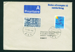 DENMARK - 1994 Prioritaire Cover Used  Sent To Kuwait As Scan - Covers & Documents