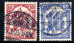 DEUTSCHES REICH 1905 Official Stamps For Baden 10, 20 Pfg. Used.  Michel  12-13 - Service