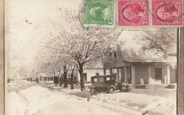 Etats-Unis - Texas -  Carte-Photo - West - 309 Davis Street In Winter - Automobile - Non Classés