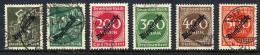 DEUTSCHES REICH 1923 May Official Overprints30 Mk - 500 Mk.  Used.  Michel  Dienst 76-81 Cat. €57 - Officials
